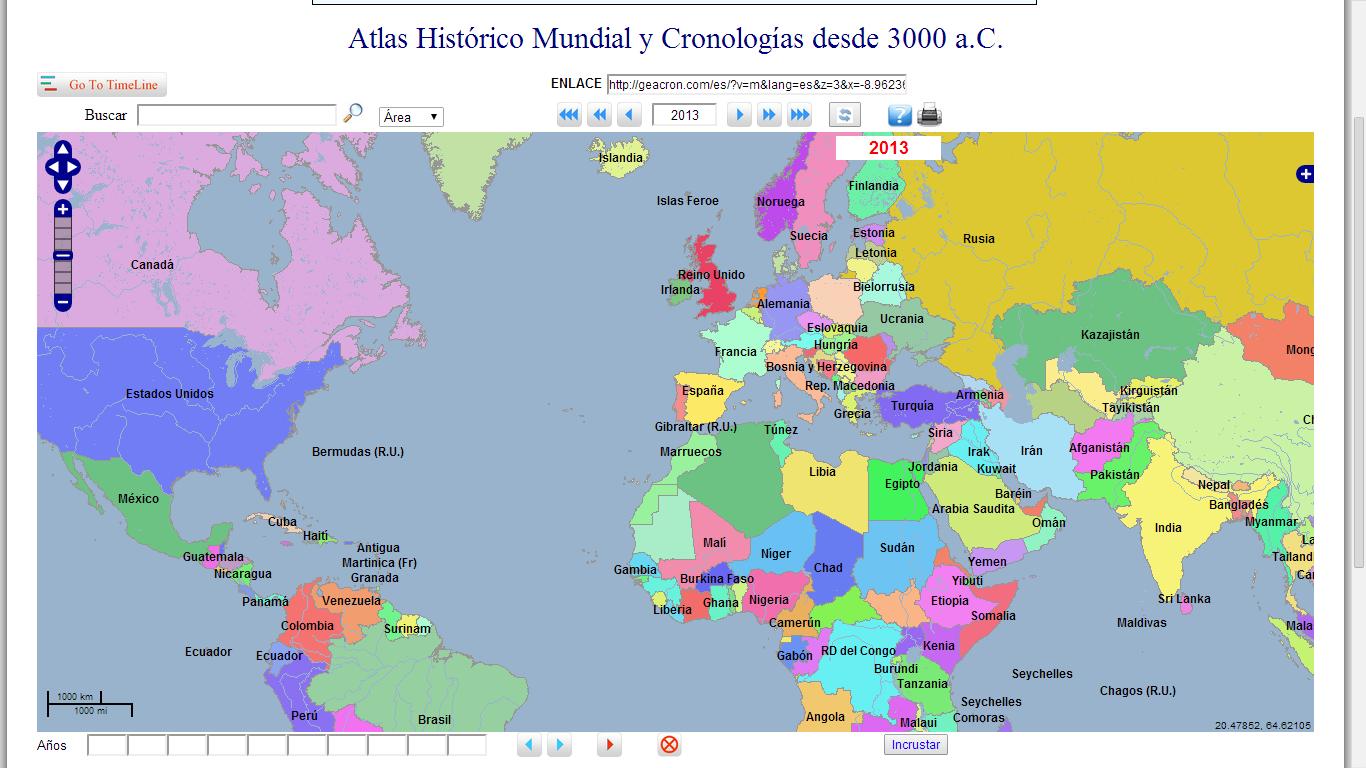 Atlas mundial  Online Map