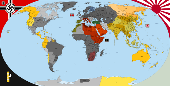 "Map of the world as depicted in ""The Man in the High Castle"" Very good resolution, with maps. Axiz wins WW2 [4974 X 2519]"